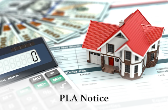 What is a Property Law Act PLA Notice